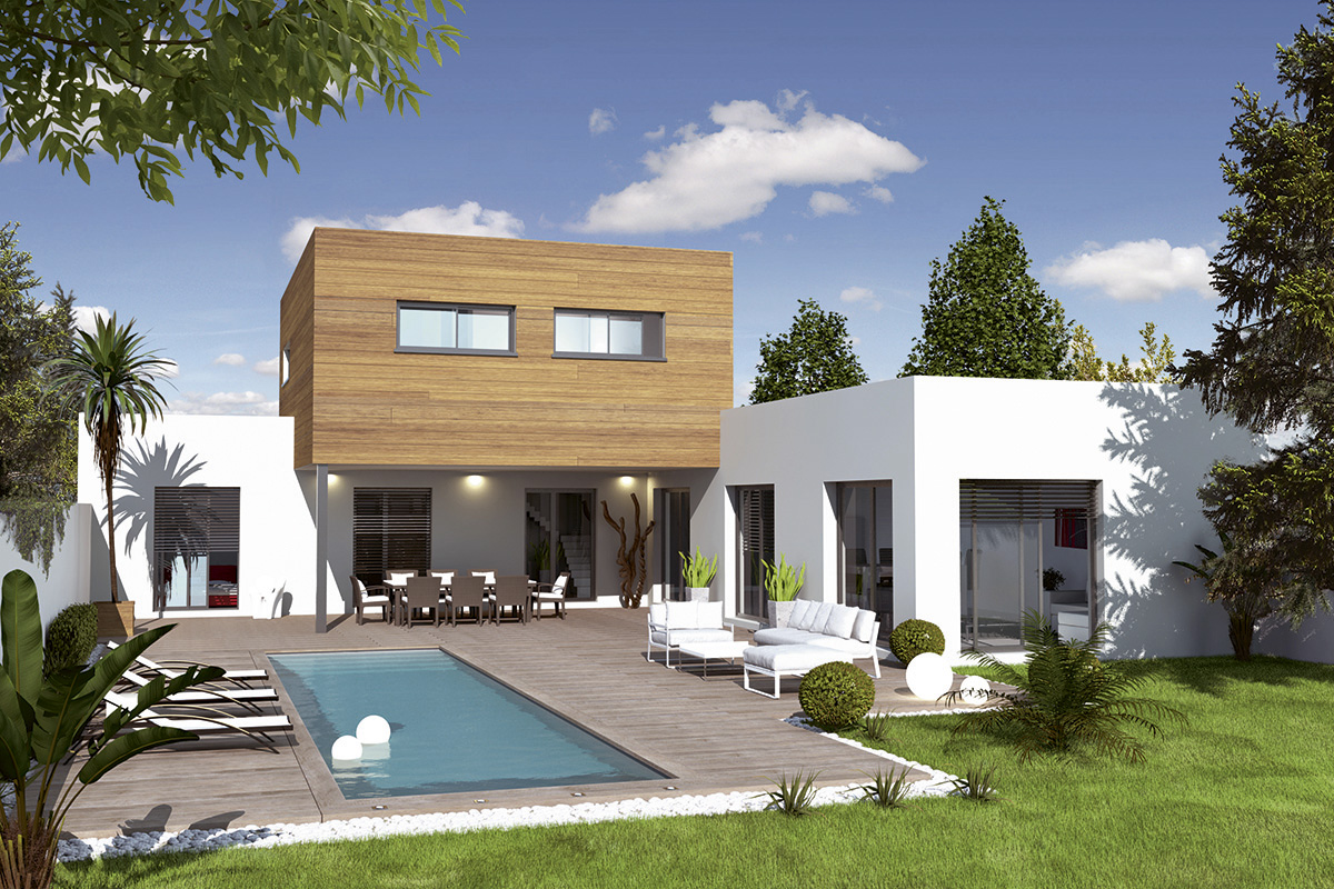 Construire une maison moderne great vue with construire - Maison simple a construire ...