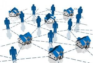 Real Estate Market, blue house network